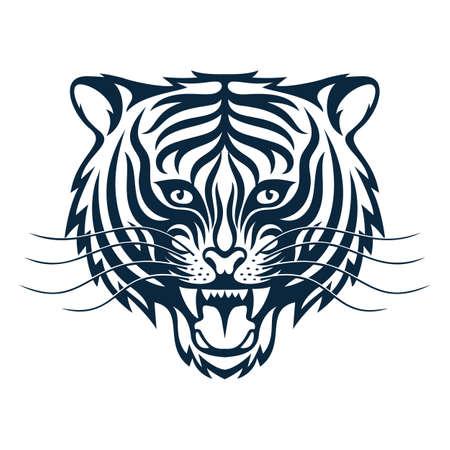 Roaring tigress - stylized tattoo