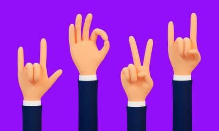 3d hand gestures of satisfaction Фото со стока