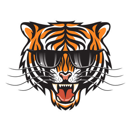 Tigress in sun glasses Иллюстрация