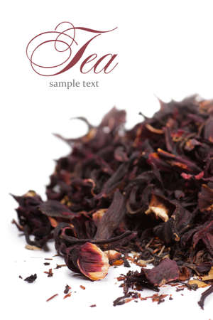 Healthy herbal dry tea with rose petals photo