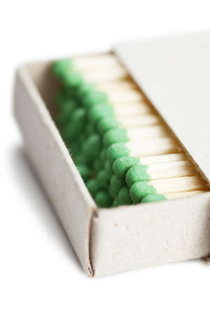 Matches in a box illustrating concept of cohesion photo