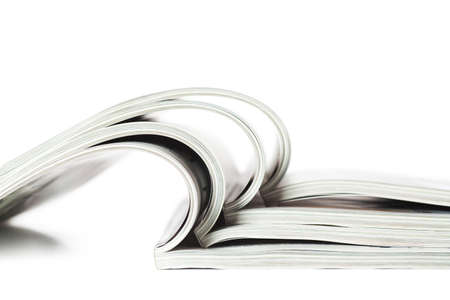 Selective focus image of magazines in profile Stock Photo - 13292224