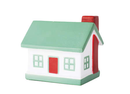 Little house toy isolated over white background Stock Photo - 17612736
