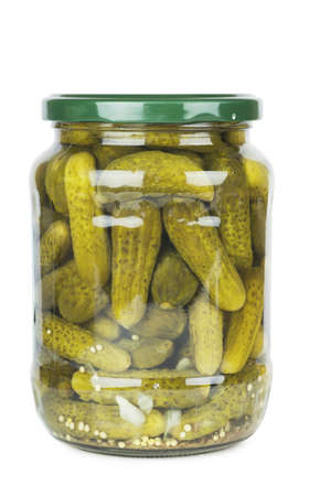 Jar of pickles isolated over white background Stock Photo - 17741323