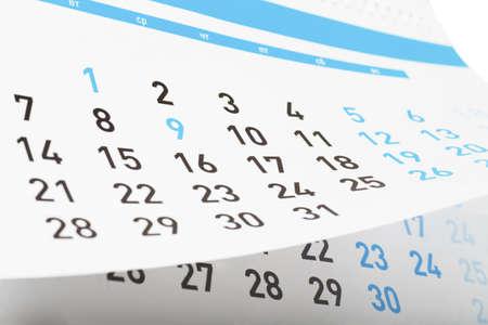 Vue de plan rapproché des pages de calendrier détachable