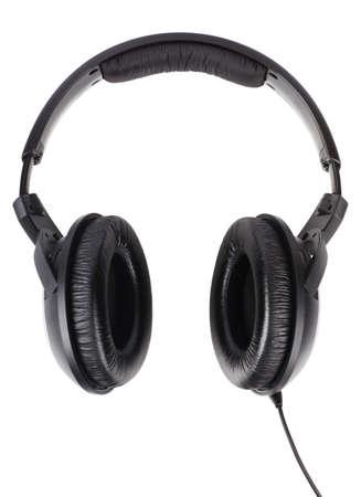 Professional headphones isolated over white background Stock Photo