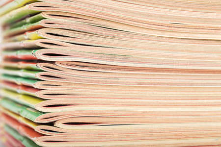 Closeup view of big stack of magazines Standard-Bild