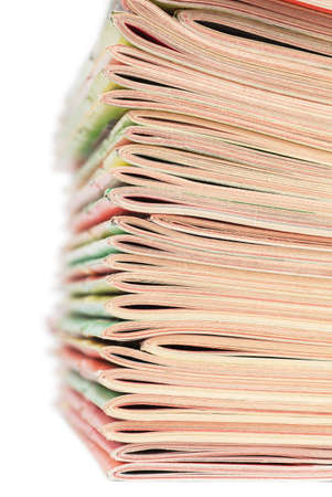 Closeup view of stack of magazines Stock Photo - 19085737