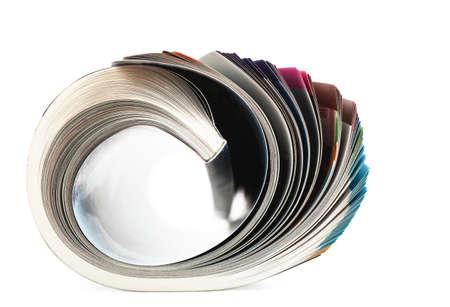Selective focus image of magazine in profile Stock Photo - 19085730