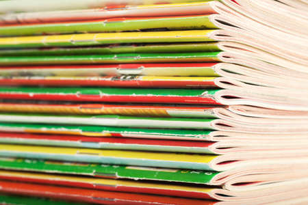 Closeup view of big stack of magazines Stock Photo - 19420884