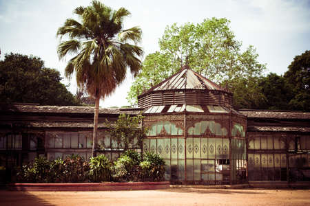 outbuilding: Toned picture of old palace outbuilding in India