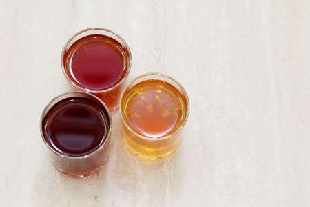 Kombucha, Blueberry and apricot drink