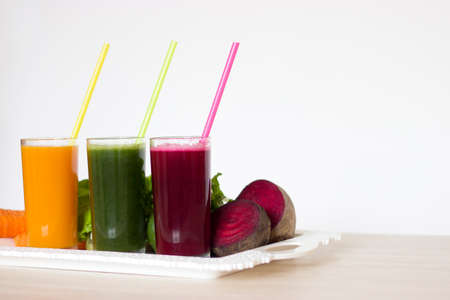 Vegetable smoothies detox - Carrot, beet and green salad.