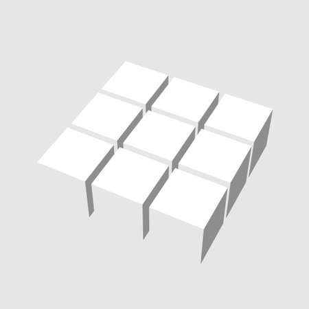 dimentional: cube Stock Photo