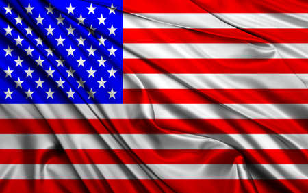 United States (USA) flag painted on texture, symbol of patriotism of the American people.