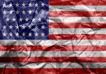 United States (USA) flag painted on texture, symbol of patriotism of the American people. Stockfoto