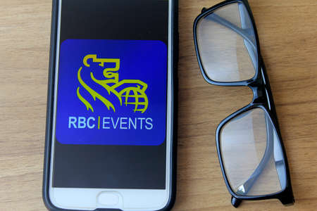 Rio de Janeiro, Brazil - December 22, 2019: Royal Bank of Canada logo on the mobile screen. It is the largest Canadian bank based in Toronto and Montreal, Canada.