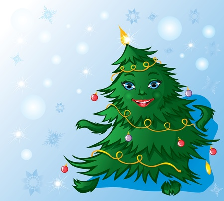 Christmas tree dance Vector