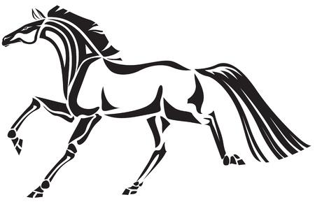 Stylized image of horse Illustration