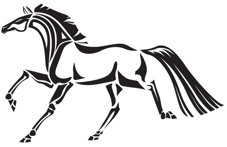 Stylized image of horse Illustration