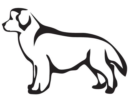 Stylized image Newfoundland dog