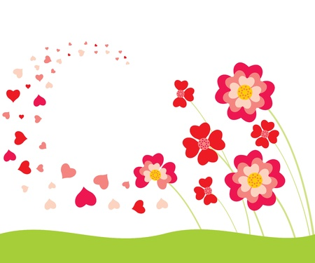 Die Blütenblätter in Form von Herzen flattern in der Luft Standard-Bild - 11373313