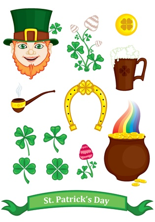 Symbols of St  Patrick Vector