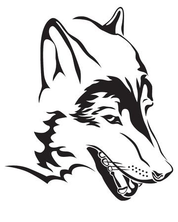 La imagen del contorno del lobo Ilustración de vector