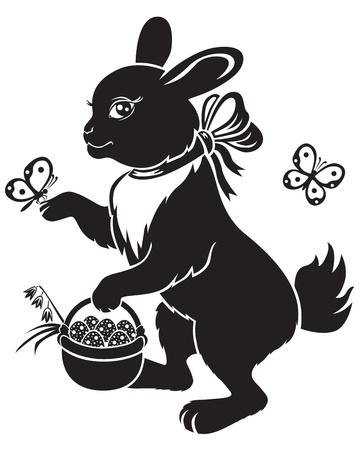 Hare es canasta con huevos de Pascua