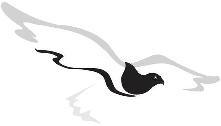 ファルコン: 飛ぶ鷹の様式化されたイメージ  イラスト・ベクター素材