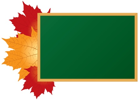 School board and maple leaves Vector