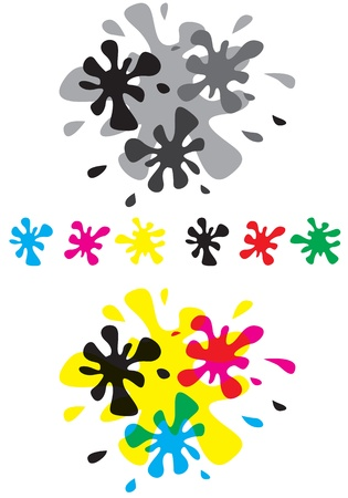 Set of different blots, overlapping and individual Vector
