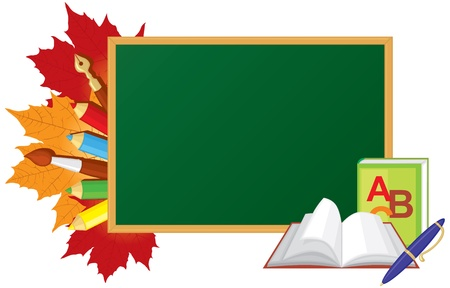School board and other school supplies Vector
