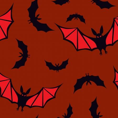 Halloween  seamless pattern with vampires on a dark brawn background 免版税图像 - 15091884