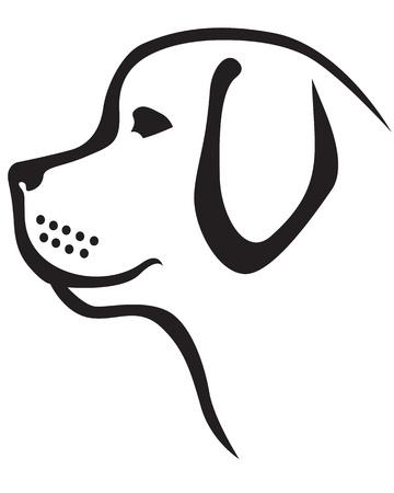 Newfoundland breed dog Vettoriali