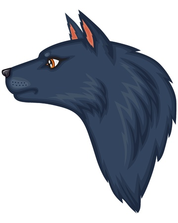 dog ears: Cartoon image of the wolf