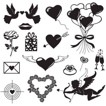 Romantic silhouette for Valentine Stock Vector - 17170479
