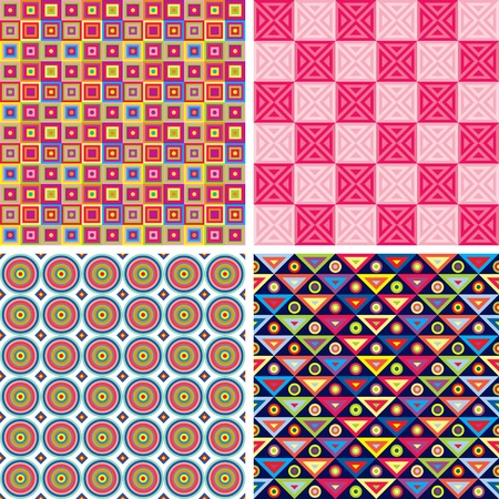 Set of multicolor seamless pattern Stock Vector - 17215391