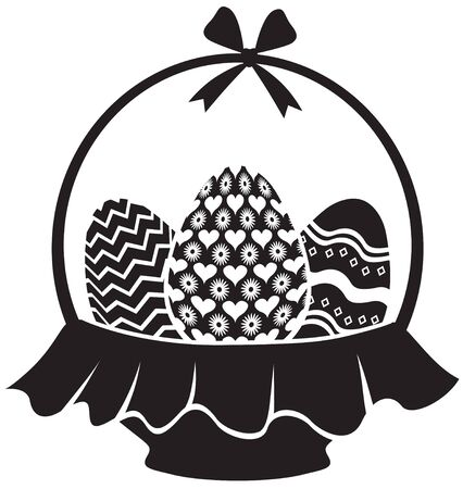 Basket with patterned Easter eggs Stock Vector - 17277831