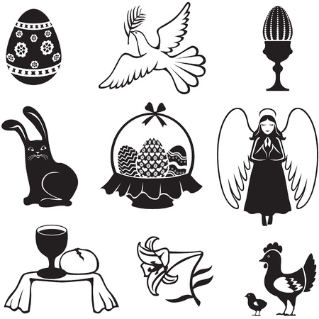 bread basket: Easter set of images for the holiday Illustration