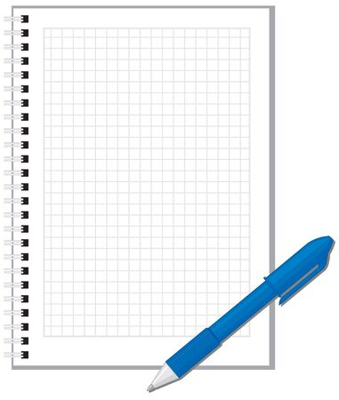blue pen: Blue pen lying on the pages of notebooks