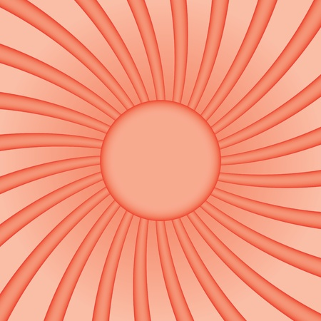Background with a stylized sun with curved beams Vector
