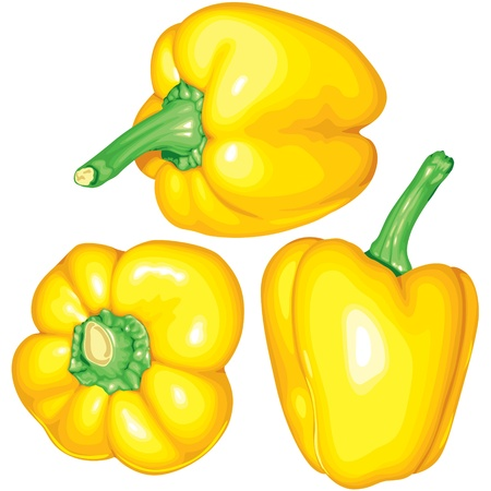 flavorful: Set image of sweet yellow pepper