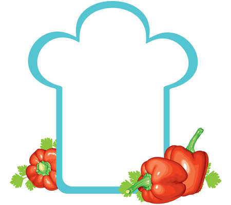 chef s hat: Background for notes and recipes in the form of the chef