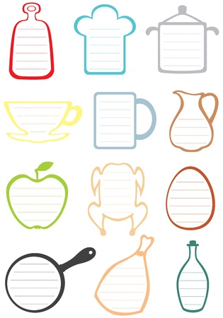Frames with rulers for kitchen notes and recipes Vector