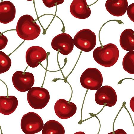 drupe: Cherry seamless pattern