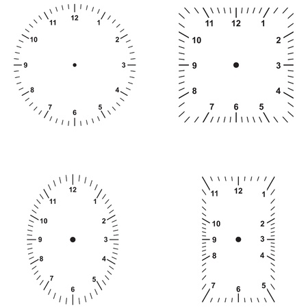 time square: Set the dials of different shapes Illustration