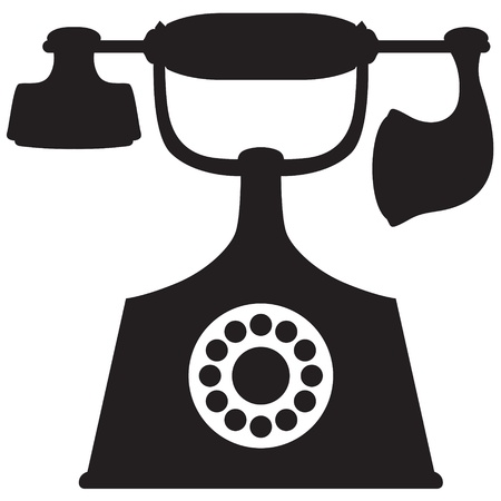 A silhouette image of a vintage telephone Stock Vector - 20465946
