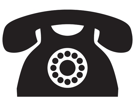 A silhouette image of a vintage telephone Stock Vector - 20451918