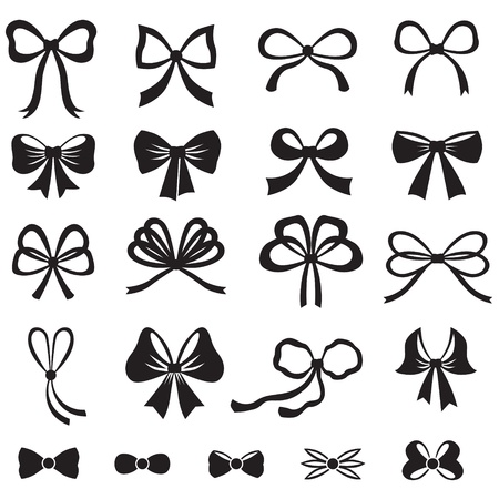 Black and white silhouette image of bow set Imagens - 21420545